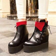 18e6dc70a PXELENA/осенние ботинки на толстой мягкой подошве в японском стиле  Харадзюку, женские ботинки в