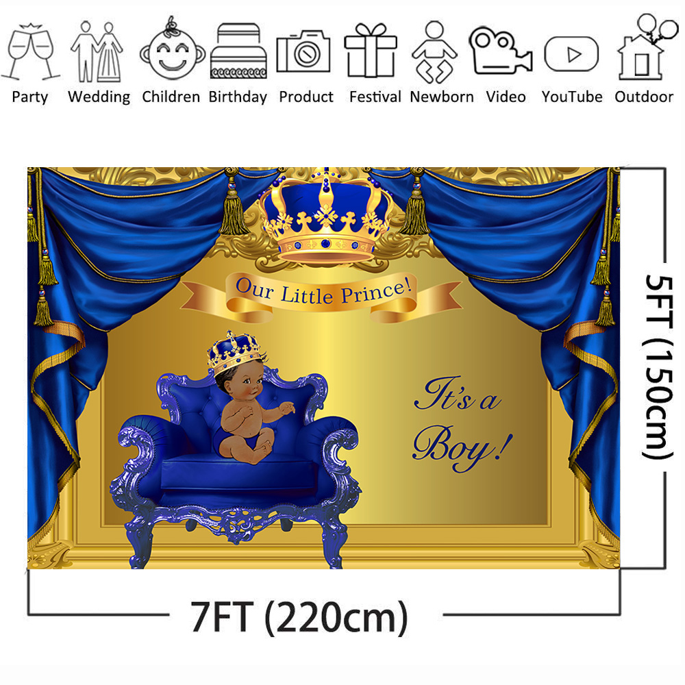 Prince Vintage Furniture Birthday Banner Party Decoration Backdrop
