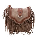 Ethnic Fashion women Bag Retro Bubuck Leather Shoulder Bag Ladies Travel Handbag Small Tassel Crossbody Bag Bolsas Feminina