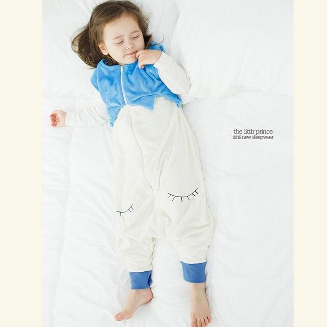 (KID STATION ) Novelty Baby Bag Sleepers Autumn Winter Children Jumpsuit  Flannel Funny Animal Kid One Piece Blanket Sleepers de29c2530