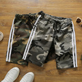 Mens Camo Shorts Sporting Trunks Bodybuilding Shark Shorts Summer Casual Camoflage Beach Short Homme