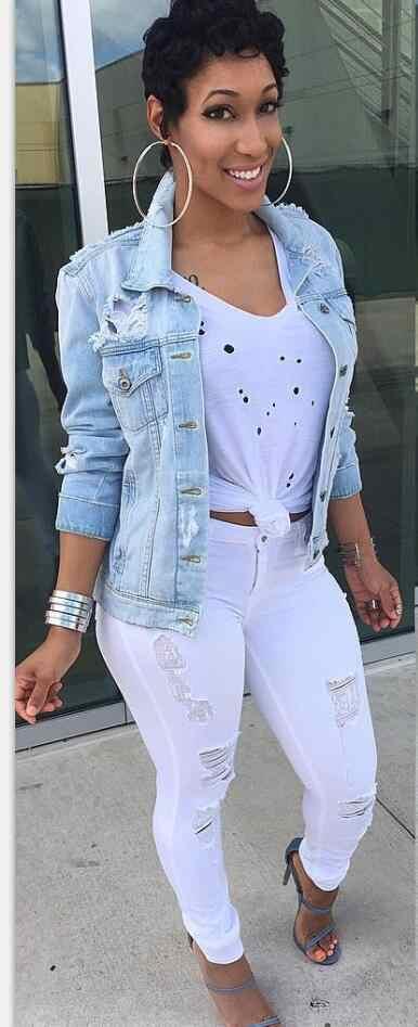 2018 Женская Осенняя мода размера плюс джинсы куртки для Женская Повседневная Уличная женские джинсовые рваные свободные Стиль женский одноцветное пальто для будущих мам