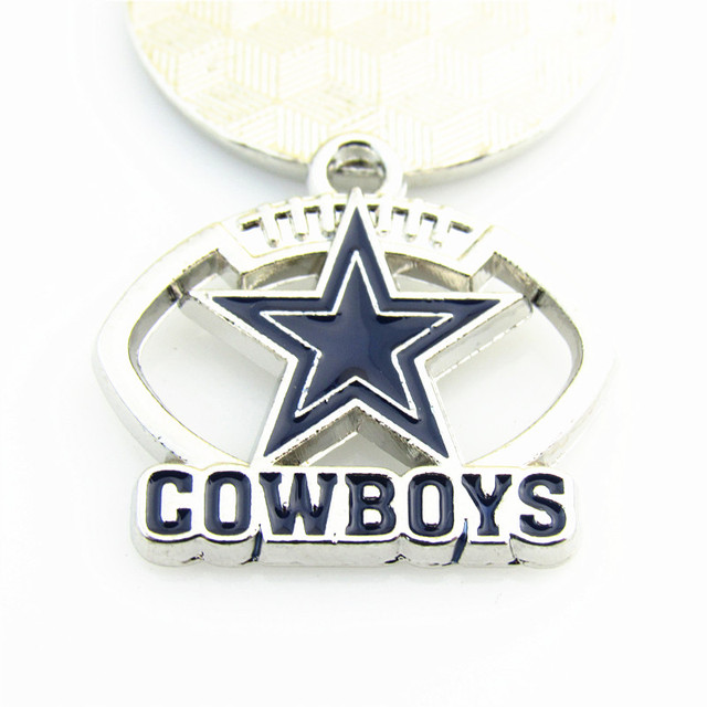 High quality enamel football pendant dangle charm dallas cowboys high quality enamel football pendant dangle charm dallas cowboys team logo pendant necklace for fans jewelry aloadofball Images