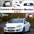 3 in1 Special Rear View Camera + Wireless Receiver + Mirror Monitor Backup Parking System For FIAT Bravo Brava Ritmo 2007~2015