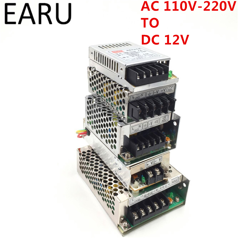 110V -265V to DC 12V 1A 2A 3A 5A 8A 10A 12.5A 15A 20A 30A 40A Switching Power Supply Transformers Adapter For LED Strip light 201w led switching power supply 85 265ac input 40a 16 5a 8 3a 4 2a for led strip light power suply 5v 12v output