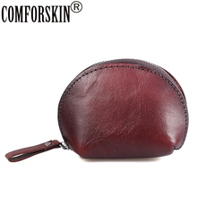 COMFORSKIN Brand Carteira Feminina New Arrivals Oval Style Soft Genuine Leather Practical Women Coin Purse Billetera For Men