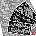 20pcs/set Henna Templates Stickers Glitter Tattoo Stencils Designs for Tattoos Temporary Drawing for Painting