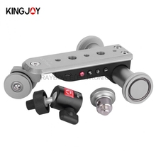 Kingjoy PPL-06S electric 3 wheels Video Car professional gopro go pro cell phone stand for Smartphone GoPro DSLR Camera