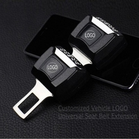 1 Piece Car Logo Vehicle Seat Belt Extension Extender Safety Buckle Clip For Audi Skoda Nissan