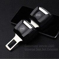 1 Piece Car Logo Vehicle Seat Belt Extension Extender Safety Buckle Clip For Audi Skoda Nissan
