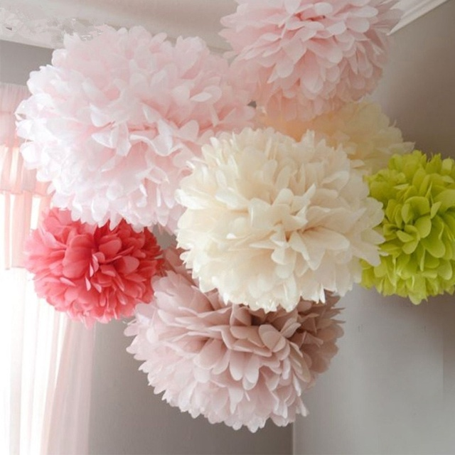 Aliexpress Com Buy 6inch 5pcs Paper Flowers Ball Tissue Paper Pom Poms Lantern Wedding Home Birthday Party Baby Shower Car Decoration From Reliable