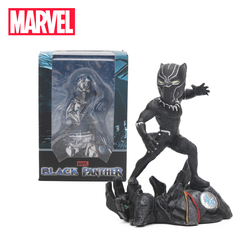 2018 Marvel Toys 8cm Black Panther PVC Action Figure 1/6 Scale Q version Avengers Figures Collectible Model Dolls Toys Figurine 1 6 scale figure doll comic version wolverine 12 action figures doll collectible model toy soldiers
