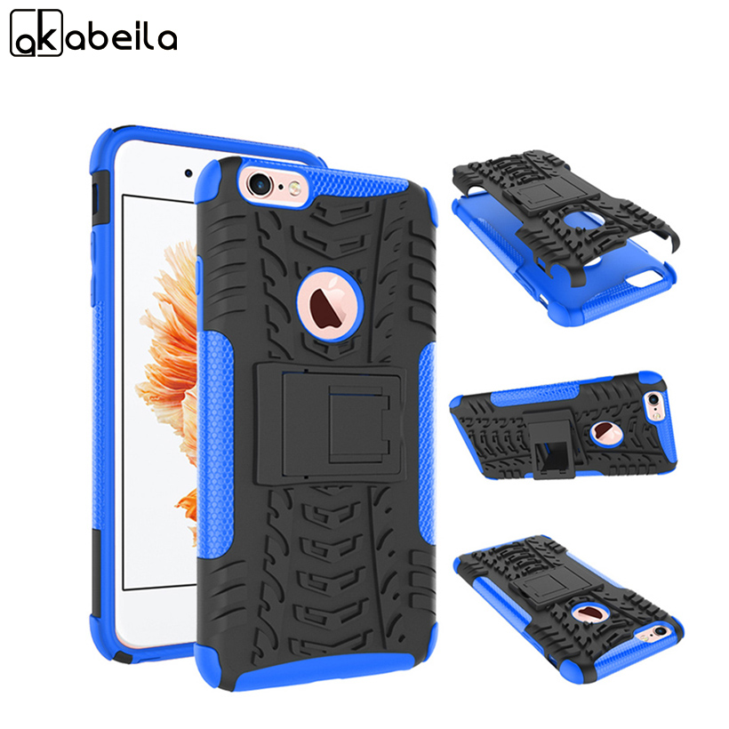 AKABEILA Military Armor Kickstand Phone Case Cover For Apple iPhone 6S Plus 6 Plus iPhone6S Plus iphone6S Back Cover Cool PC+TPU ...