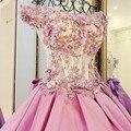 Elegante Custom Made Vestido de Noite 2017 Vestido De Festa Longo de Renda Com 3d Flores Apliques Vestidos de Noite Formal Do Partido Vestidos