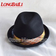 2014 winter NEW fashion wool felt  fedora hats for women, chapeau feminino, panama hat, top free shipping