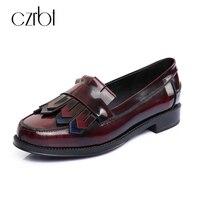 Fashion Luxury Brand Fringe Loafers Flats 2017 Casual Genuine Leather Moccasins Slip On Platforms Tassel Boat