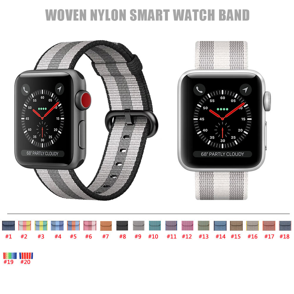 2017 New Colorful Woven Nylon Watch Band For Apple Watch Fabric-like feel Wrist Strap with Metal Adapter for iwatch 38mm/42mm автомагнитола digma dcr 300b