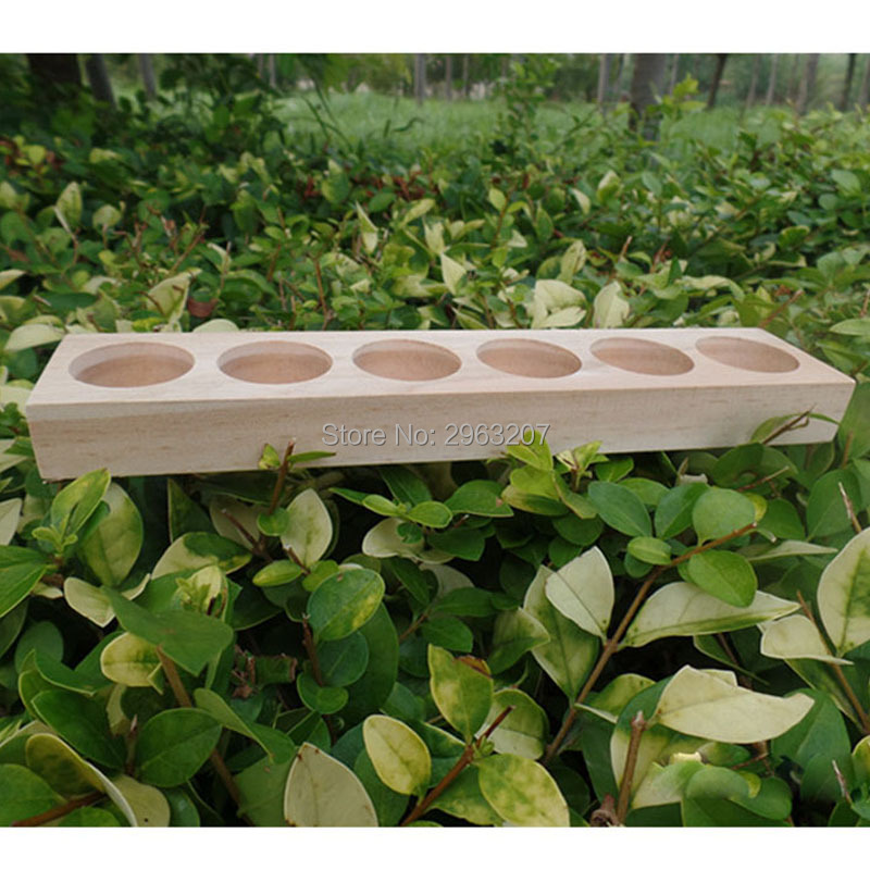 30 piezas de madera NATURAL aromaterapia aceite esencial de exhibición organizador de almacenamiento soporte para 6 piezas de botellas de 15 ml-in Soportes y estanterías de almacenamiento from Hogar y Mascotas    3