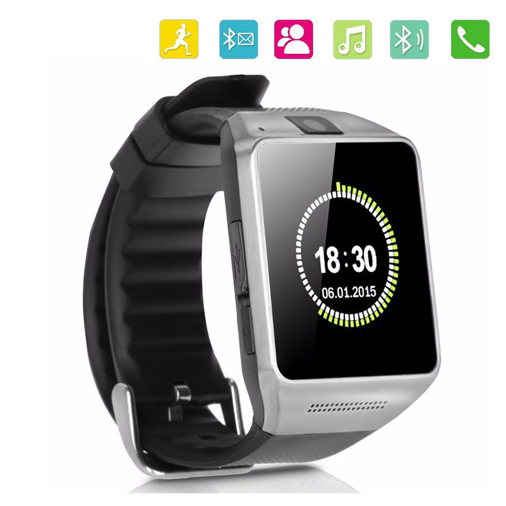 2016 NEW Bluetooth Smartwatch GV08 Waterproof Camera Fitness SMS SIM TF Card font b Smart b