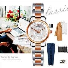SINOB Marca de Lujo de Acero Inoxidable Reloj de Pulsera de Las Mujeres Reloj de Cuarzo Ocasional Señoras Reloj Del Negocio Del Reloj Del Relogio Feminino Regalo 8126