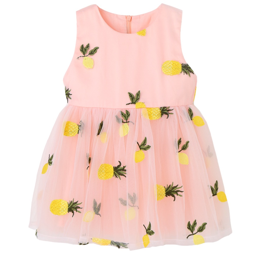 Children's Summer Princess Dresses Baby Girl Lace Dress Fashion Kids Birthday Party Clothes Cute Flower Girls Wedding Dresses