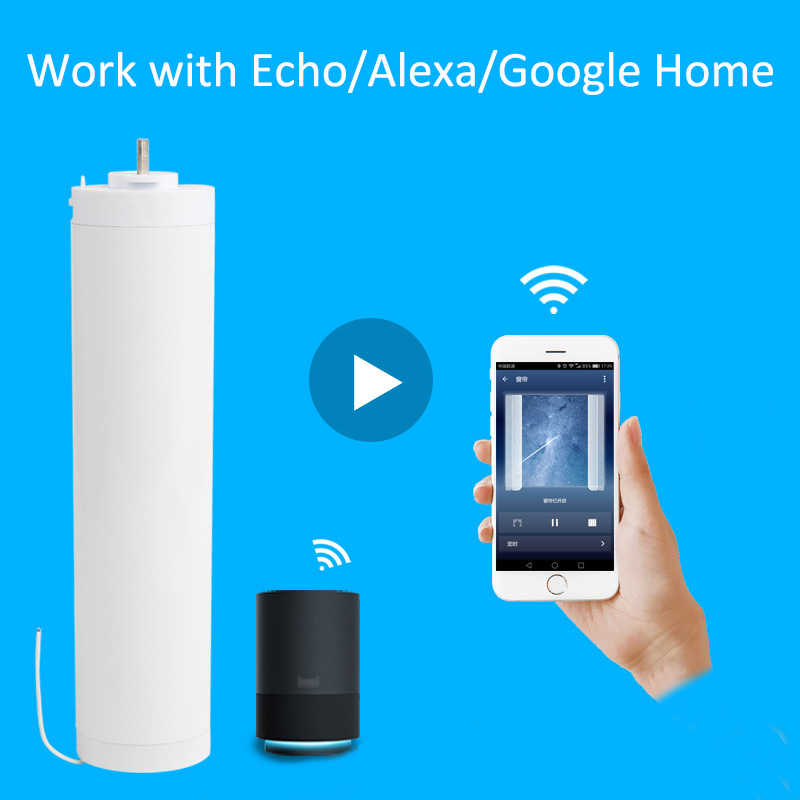 Smartlife app Wifi Motor Electric Curtain Motor Smart Home Automation  System Alexa/Google Home IOS Android Remote Control