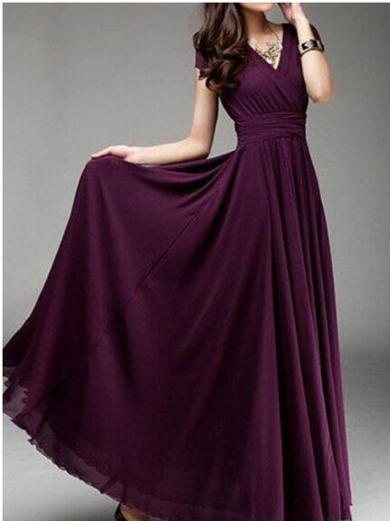 2019 Chiffon Women summer dress Short Sleeve V neck Elegant Backless Sexy Evening Party Long Dresses Female vestido largo in Dresses from Women 39 s Clothing