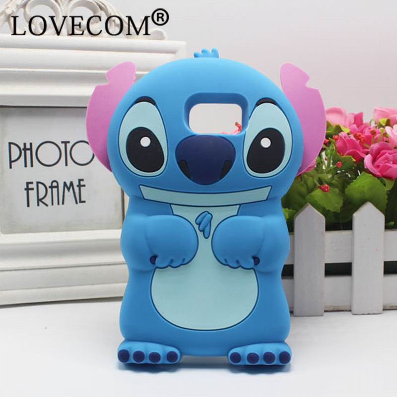 Samsung Galaxy A3 A5 A7 Note3 4 S5Mini S5 S6 S7Edge Style Catoon Stitch Lovely Soft Silicon Phone Case iPhone 5S 5C 6S - LOVECOM Store store