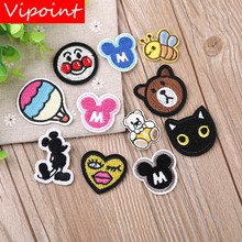 VIPOINT embroidery M mouse cat patches animal badges applique for clothing YX-102