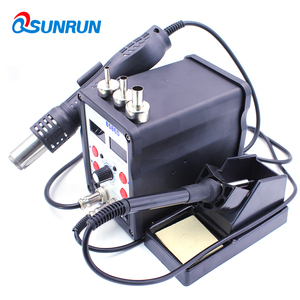 Image 5 - QSUNRUN 700 W 220 V 8586D 2 en 1 pistolet à air chaud et fer à souder station de dessoudage dormante automatique avec double affichage numérique