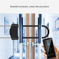 Fingerprint U shape Lock Smart Bluetooth App Control Glass Door lock for Store Company Double Door Anti theft U shaped locks