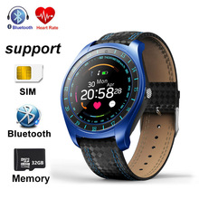 Купить с кэшбэком Smart Watch V10 Watches Support SMS TF Card Camera OLED Smartwatch Heart Rate Fitness Tracker Call For Android Phone Smart Band