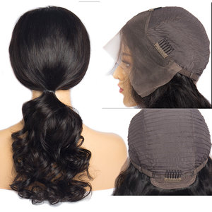 Image 4 - Alibele Brazilian Loose Wave Lace Front Human Hair Wigs 4x4 Lace Closure Wig Remy Hair Wig With Baby Hair 150 Density 13x4inch