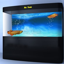 Mr.Tank Blue Ocean Aquarium Baggrunds Plakat Selvklæbende PVC Fish Tank Backdrop Glass Wall Decorations