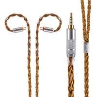 8 ядро чистого серебра обновлен кабель наушников 2,5/3,5/4,4 мм балансный кабель с MMCX/2pin разъем для HQ5 HQ6 TFZ ZS10 ZS6 ES4