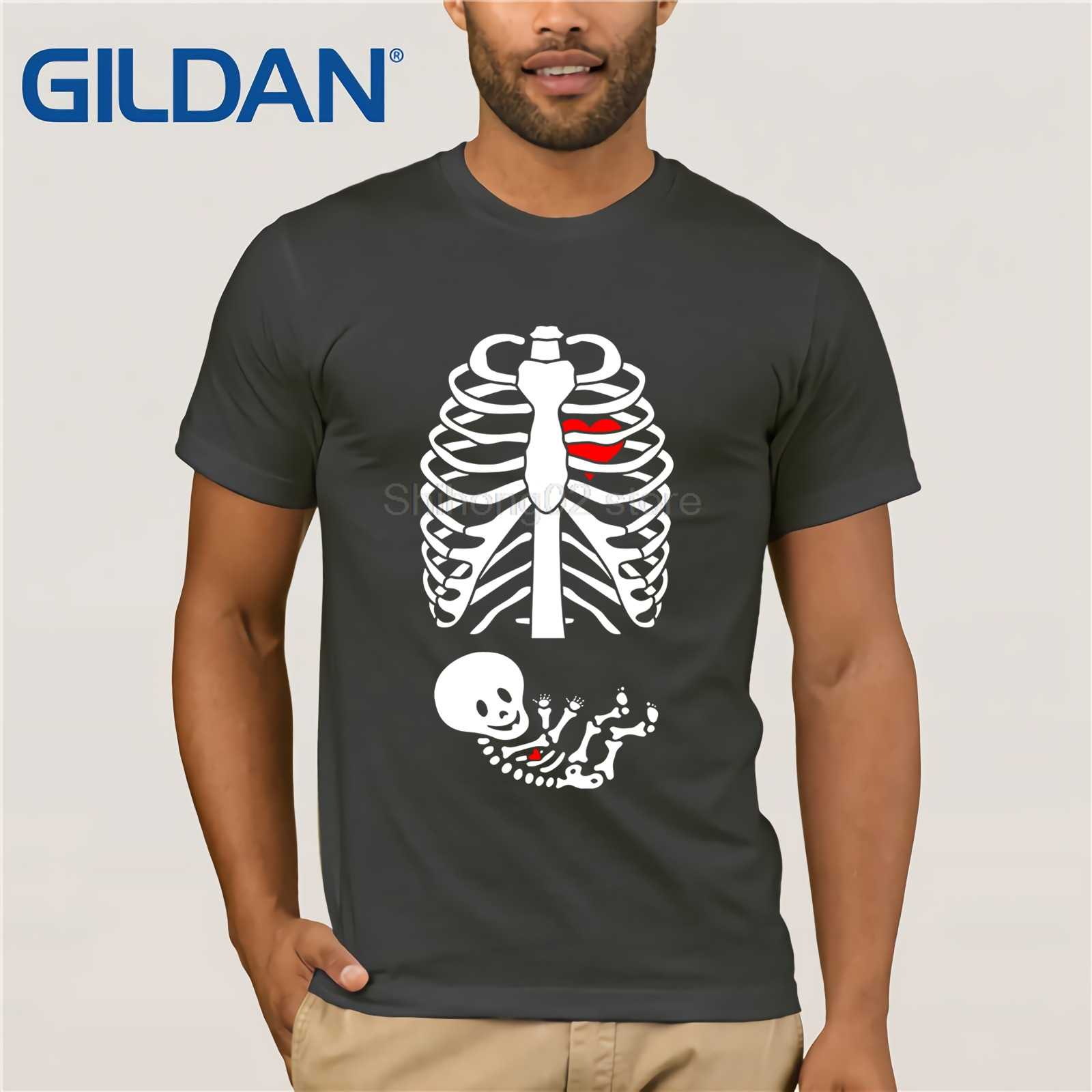 Halloween Pregnancy T Shirt.Gildan Mens Halloween Pregnancy Announcement Baby Boy Skeleton Shirt Men S T Shirt