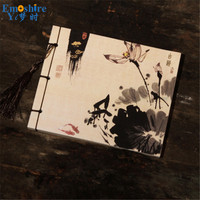 Ink Painting Cover Creative Notebook Beautiful Diary Note Book Blank Inner Pages School Students Writing Pad Notebook Book N252