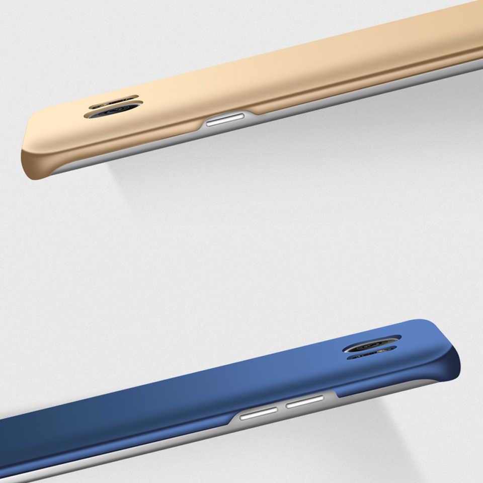 Slim Caixa de Plástico Fosco Para Samsung Galaxy Note Tampa S8 9 8 S10 S10E S9 Plus A3 A5 A7 J3 J5 J7 Prime 2016 2017 Rígido de Proteção