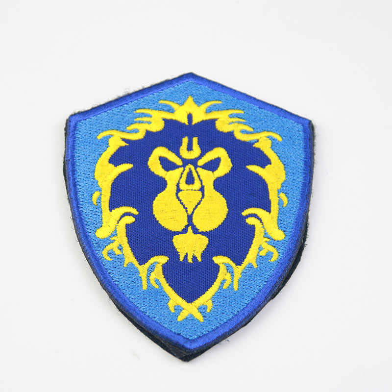 """World of Warcraft Warrior Logo 3/"""" in Diameter Embroidered Iron on Patch"""