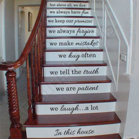 Stairs Stickers Staircase Riser Decor Decal Inspired