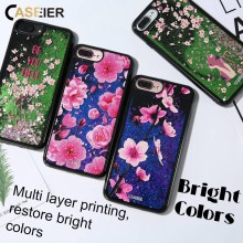 CASEIER Liquid Glitter Sand Phone Case For iPhone 6 6s Quicksand 3D Relief Cover 7 8 Plus X  Funda Capinha