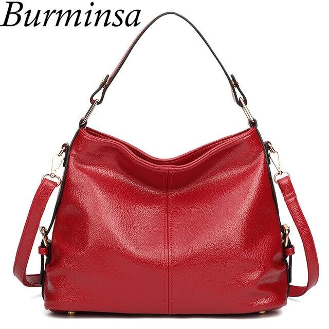 82425fb1c4 Burminsa Brand Ladies Messenger Hobo Bags Large Retro Designer Handbags  High Quality PU Leather Tote Crossbody