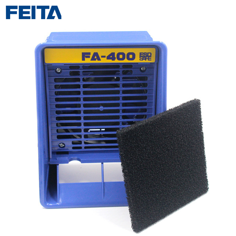 FEITA FA-400 Solder Smoke Absorber With 6pcs Free Activated Carbon Filter Sponge ESD Fume Extractor Smoking Instruments