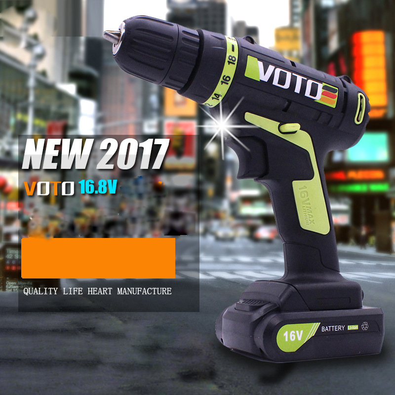 Household <font><b>16V</b></font> Charging Lithium <font><b>Battery</b></font> Cordless Electric Drill Electric Screwdriver Power Tools image