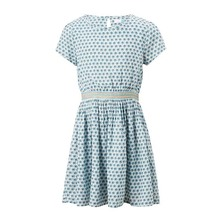 Little Maven New Summer Lovely Kids Short Blue Printed Waistband Lady O-neck Knitted Cotton Big Girls 4-10yrs Casual Dresses