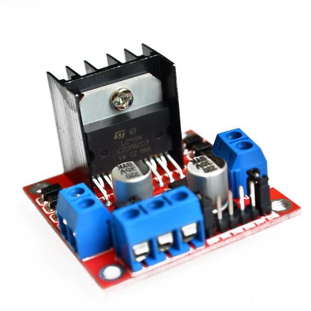 10pcs/lot New Dual H Bridge DC Stepper Motor Drive Controller Board Module L298N