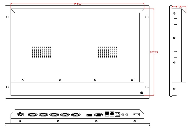7U industriële computer met rackmontage, 15 inch LCD, J1900 CPU, 4GB - Industriële computers en accessoires - Foto 3