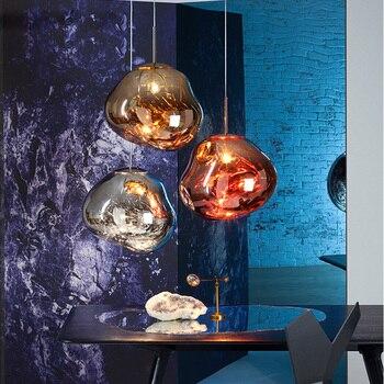 Nordic Modern loft hanging Glass Pendant Lamp Fixtures E27 E26 LED Pendant lights for Kitchen Restaurant Bar living room bedroom