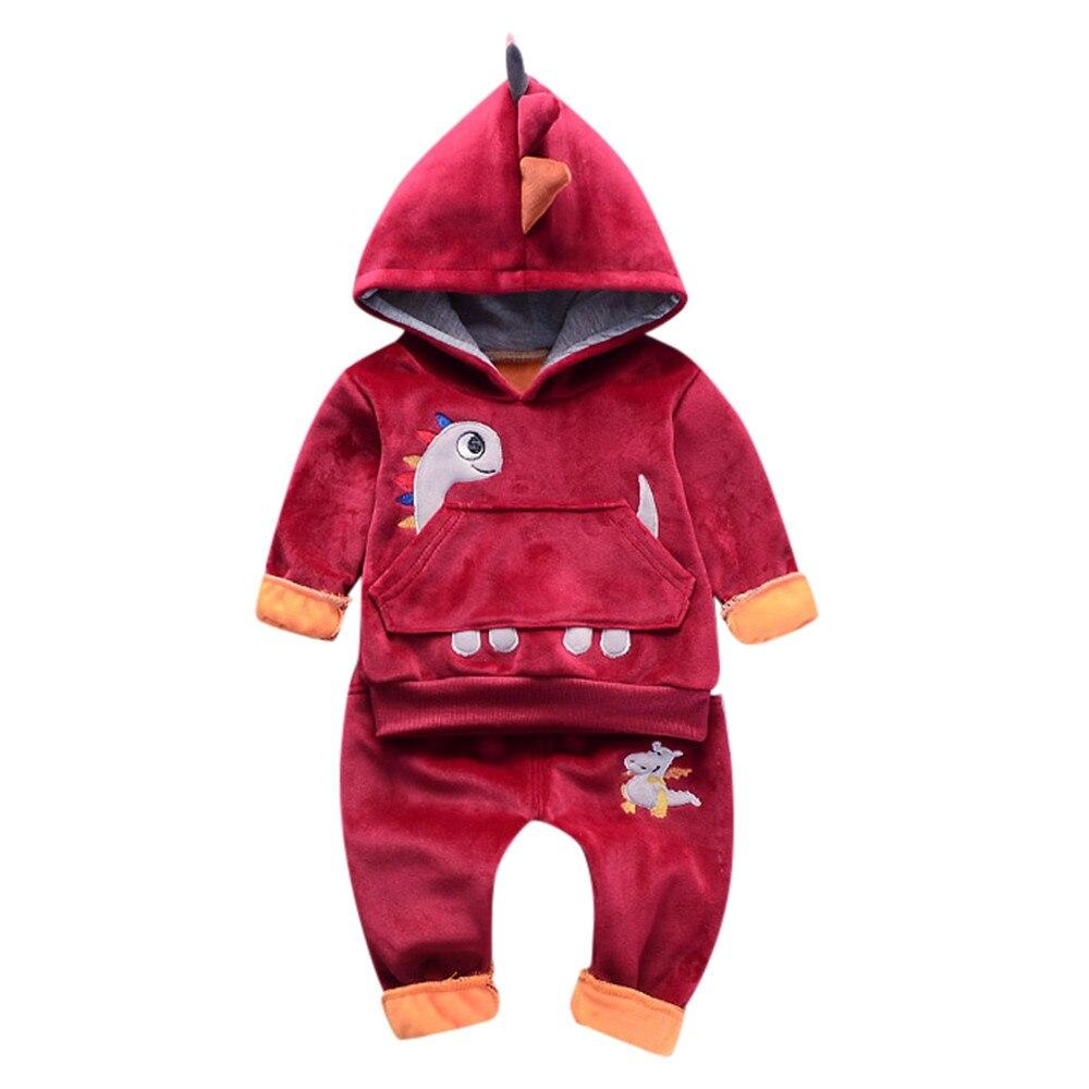 SZYADEOU Toddler Baby Kids Clothes Set Girls Boys Dinosaur Pullover Tops Pants Outfits vestido conjunto infantil C4