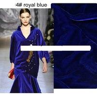 Royal Blue Silk Velou Dress Silk Velvet Fabric